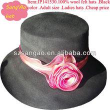 Customized /wholesale boater fedora winter hats women Popular wool casual cap100%wool felt wears headwear/Adult/helmet/casque