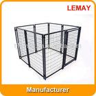 Black welded wire puppy dog kennel