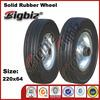 Solid rubber wheel, 15 stem caster wheels rubber