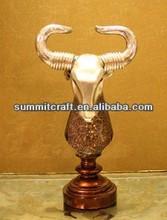 Paste glass technology European style resin buffalo figurine handicraft
