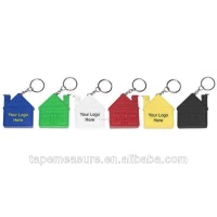 100cm/39inch keychain house steel ruler 1m eco-friendly types of tape measures manufacturer with your logo