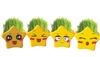 Cartoon grass head doll,creative gift ceramic mini plantings , lucky stars