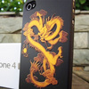 for iphone5 3D gold dragon phone case, newest mobile phone accessory