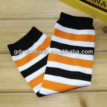 Orange black stripes Baby leg warmers halloween leg warmers children leg warmers