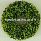 artificial grass boxwood circle wreath with styrofoam base