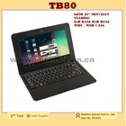 "(TB80) 10"" Cheap Notebook CPU Via8880 8GB Rom, 1GB RAM, with Camera, and Android system"