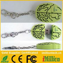 Light green brain usb sticks usb flash drives pen drives flash memory disk