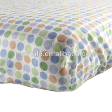 flannel fitted crib sheet