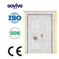master preço competitivo e design de madeira da porta de entrada francês