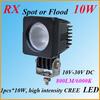 Hot sell 12V 24V car cre high power 10w led work light