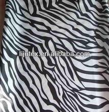 black white striped satin fabric/printed black white satin fabric