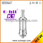 Max vapor!! Seego rechargeable e hookah vaporizer pen G-hit K1 glass patent design