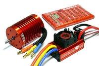 SKYRC LEOPARD 60A V2 ESC + 13T 3000KV Brushless Motor 1/10 Car Combo w/program card