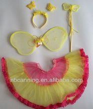 cute butterfly wings /yellow fairy wings headband set/ handmade angle wings