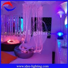 LED fiber optic waterfall kids curtains