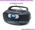 Portable cd player boombox com am/fm/rádio cassete