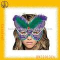 custom design borboleta pena máscara de dança