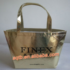 golden lamination garment non woven carry bag