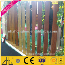 Wow!! aluminium wooden garden borders extruded profile manufacturer,wood grain finish color tubing aluminum factory price per kg