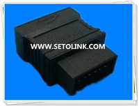 2014 J1962/OBDII OBD Male to Female Adapter NISSAN 14P TO 16P ADAPTER for Car Diagonosis