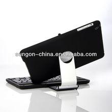 swivel rotatble plastic hard Case For New iPad mini Bluetooth Keyboard