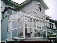 patio sunrooms/aluminum green house/flat roof luxry look winter garden sun house