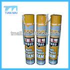 Multi-use 750ml Can Waterproof PU Foam Sealant Spray Foam Insulation Polyurethane Foam Manufacturer