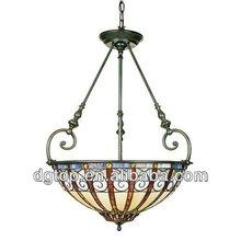 Dome shaped tiffany pendant light fixture,2014 hot-sale ceiling light.
