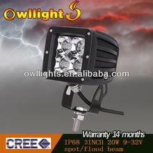 9-32 Volt 20W LED Agricultural Work Light ,Twin Spot Beam Work Lamp OL9008