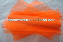 orange crystal organza fabrics
