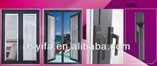 2014 YiFa design decorative glass aluminium round doors casement windows pictures ,Arched ,Power coated grain color