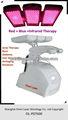Pdt led terapia per il trattamento dell'acne lampada a raggi infrarossi ricrescita dei capelli macchina