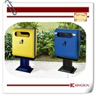 out garbage can colorful standing free for hotel decoration