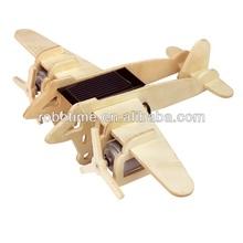 Robotime 3D Wooden Puzzle DIY Solar model toy- Bomber plane