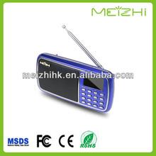 hot sale newest design high quality fashionable smart mini digital am/fm radio music portable speaker