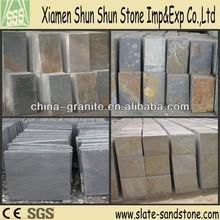 Natural slate flooring tiles for paving