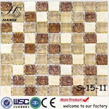 Nature slate mosaic mesh tiles backsplash A-15-11