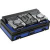 2U amp/mixer rack flight case 19 inch rack flight cases