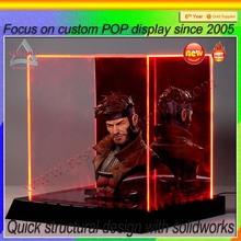 lighting acrylic display box for cartoon figures