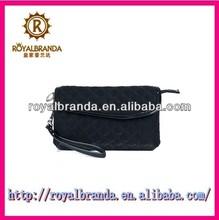 china wholesale chevron velvet wristlet cosmetic bag for women