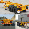 Skeleton container semitrailer for sale
