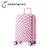 2014 hot sell ABS hard shell pink trolley travel Luggage Suitcase for ladies