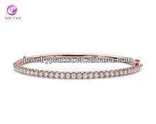 2014 New Model 925 Silver Diamond Hinged Bangle