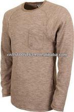 Designer clothing manufacturers in china organic cotton fabric men long sleeves t shirt