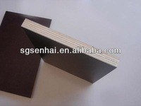 Brown color WBP glue poplar core building template/12mm Film Faced Plywood