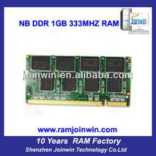 Best price 2x1GB pc2700 ddr laptop memory 2gb