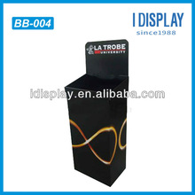 corrugated high quality large ballot box for donation competition cardboard counter top display stand