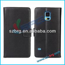 BRG black color wallet for samsung s5 cover, for s5 leather case