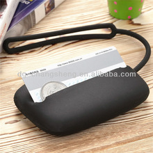 Factory new design gifts eco-friendly/fashionable silicone coin purse silicone card bag for girls and women