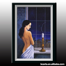 Wholesale Beautiful club Decoration 100%handmade hot sexy nude girl image s curvaceous oil painting
